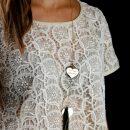 Ciondolo in argento a forma di cuore personalizzabile con iniziale, testo, simboli o disegno _ maschio gioielli milano