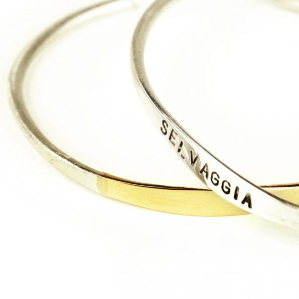 Le Maniglie di Parigi _ Bracelet in 925 silver and yellow gold