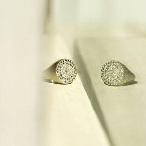 Baby-e Chevalier _ oro bianco, diamanti bianchi e silver