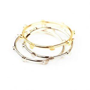 Oppia _ anelli componibili minimal sottili semplici in oro con borchiette in oro _ maschio gioielli milano