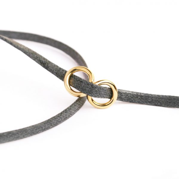 Gold infinity with cotton string (10)
