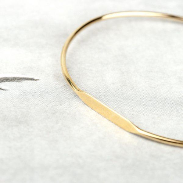 Bracciale rigido unisex personalizzabile in oro giallo _ maschio gioielli milano