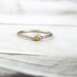 Scarlett ring _ yellow diamond