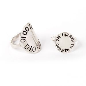 Silver rings with customized circular plate (2)