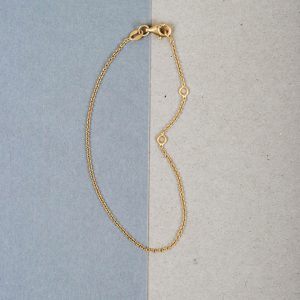 Thin chain bracelet _ yellow