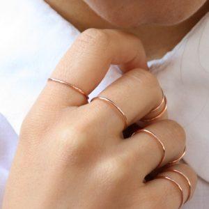 """""""Petalo Blu"""" rings _ pink"""