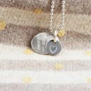 Ciondolo ovale in argento con doppia piastrina da incidere con simboli, testo o iniziali _ maschio gioielli milano