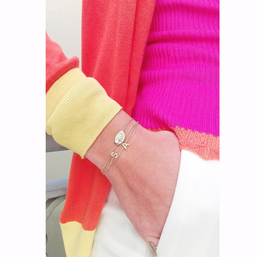 Lettera prima (bracelet) - Maschio Gioielli Milano / Shop Online