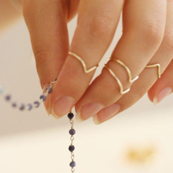 Gold phalanx V rings