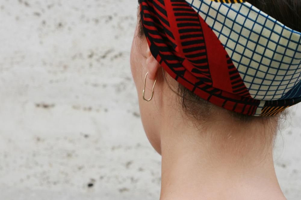 Yellow gold pin for earring _ maschio gioielli milano