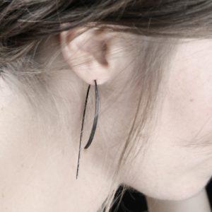 Gorgo earrings _ burnished