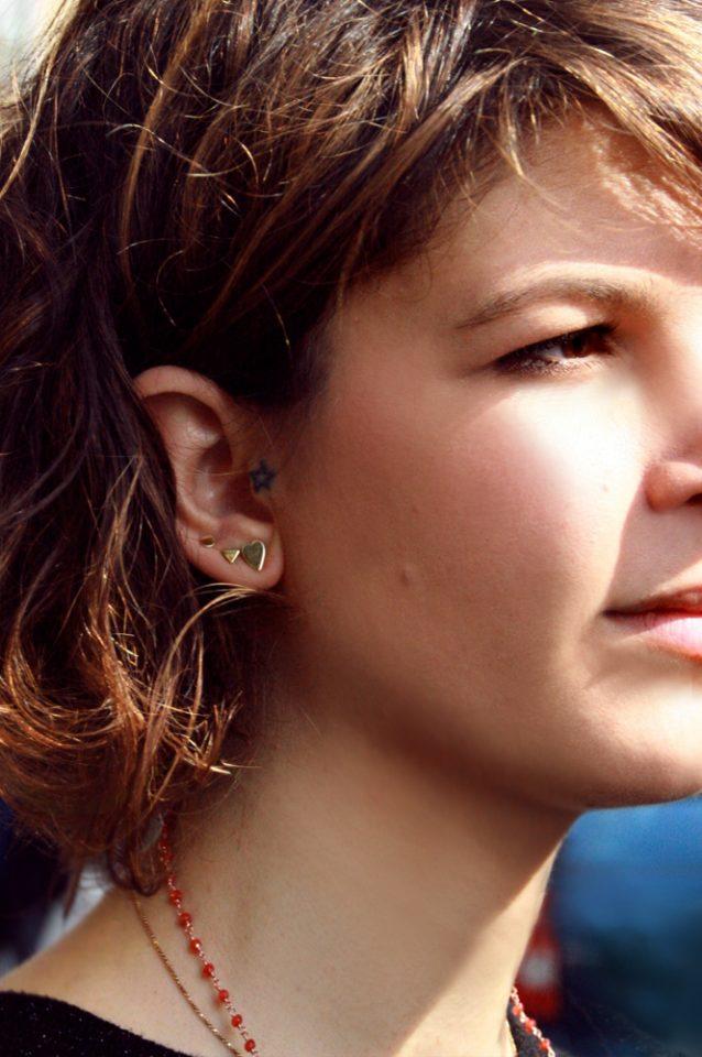 Le nere di Chagall. Single earrings