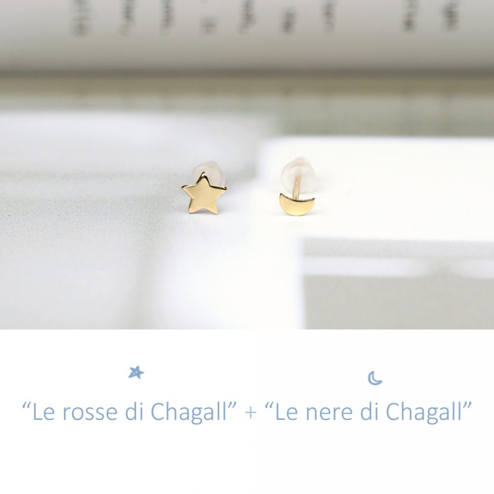 Le rosse di Chagall. Single earrings