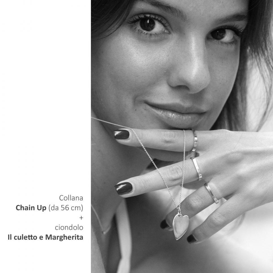 Il culetto e Margherita. Gold pendant