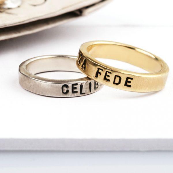 Fedi personalizzate in oro o argento