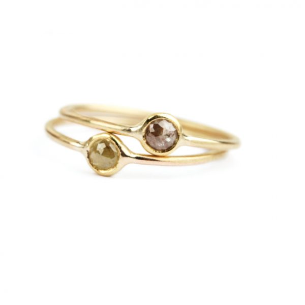 Gold rings with ice diamonds (6)