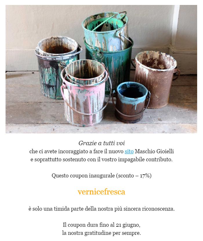 Newsletter _ Vernice Fresca _ Maschio Gioielli Milano _ giugno 2016