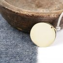 Customizable round pendant _ gold (5)
