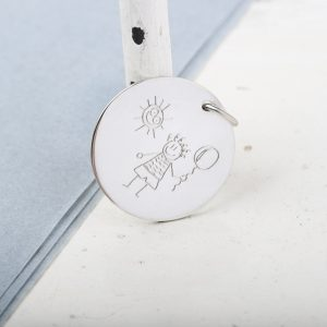 Customizable round pendant _ silver (3)