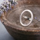 Polished silver ring with big oval (2)