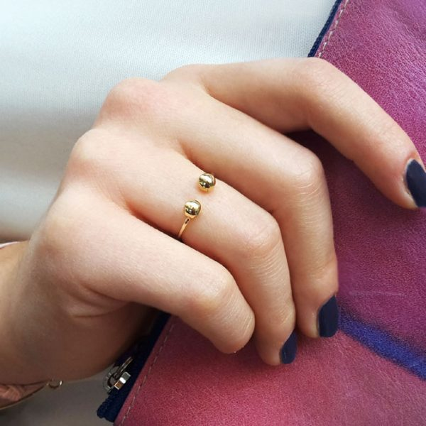 Gold-Ring-with-two-boules-(