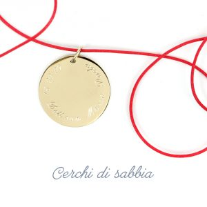 Large round pendant in yellow gold to be customized _ maschio gioielli milano