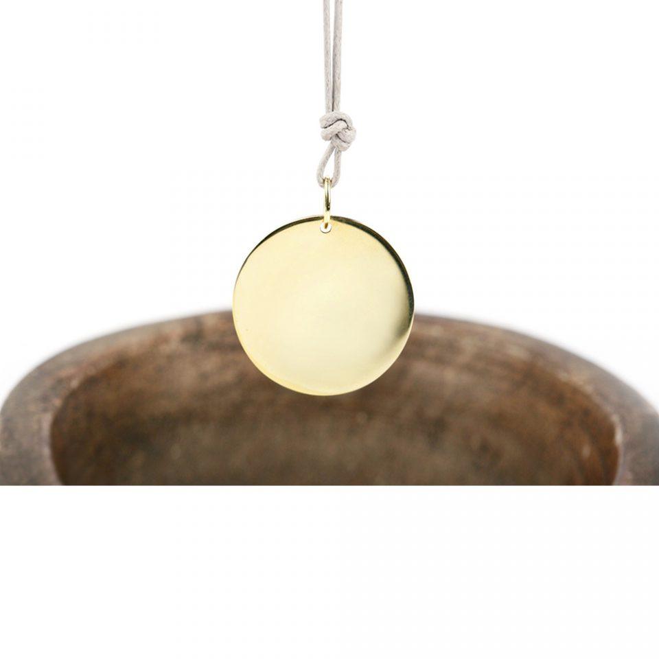 Cerchi di sabbia. Gold pendant