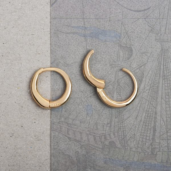 Simple hoop earrings _ small polished _ maschio gioielli milano