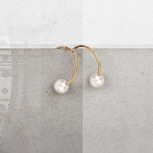 Earrings with pearls _ yellow