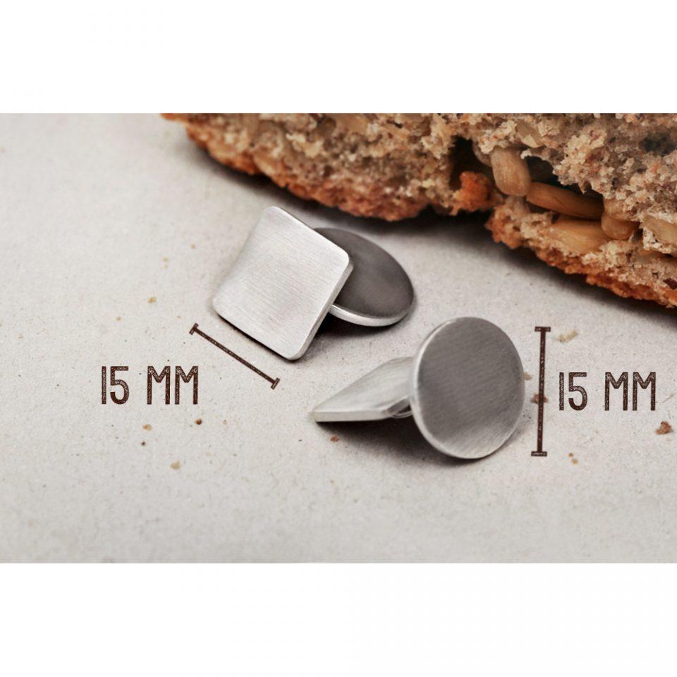 L'uomo di pane. Silver cuff-links