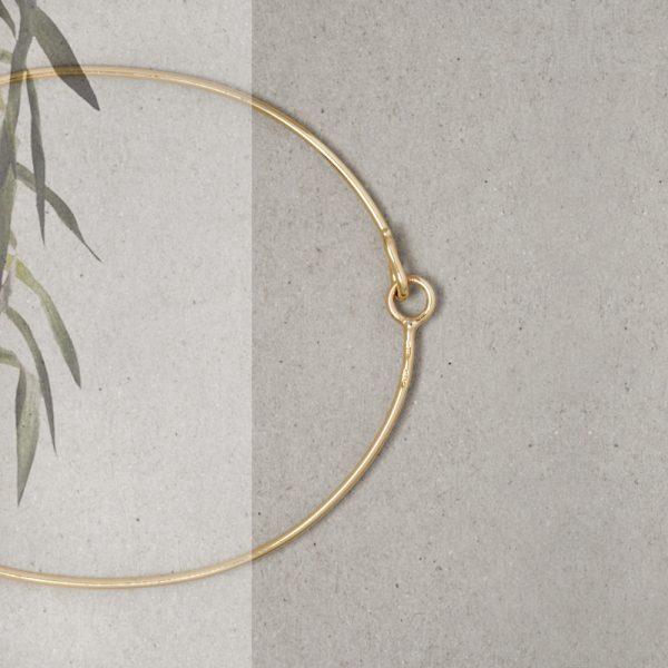 Bracciale bangle sottile in filo d'oro giallo _ maschio gioielli milano