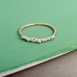 Gold ring with irregular silver bubbles (1)