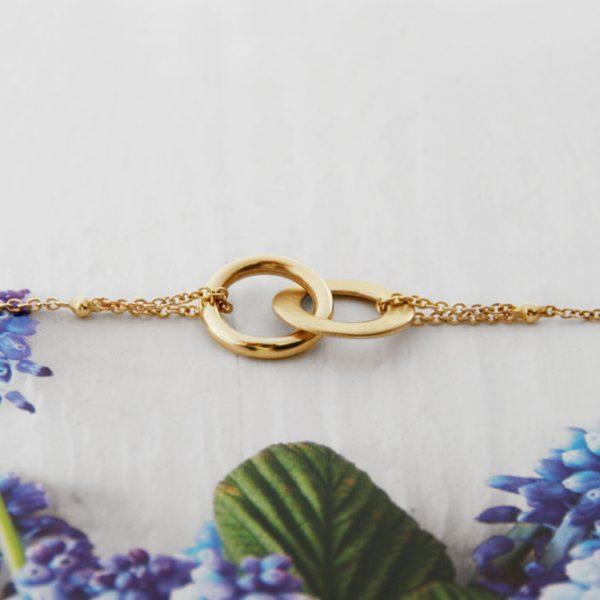 Gold bracelet with thin chain and asymmetric infinity _ maschio gioielli milano (5)