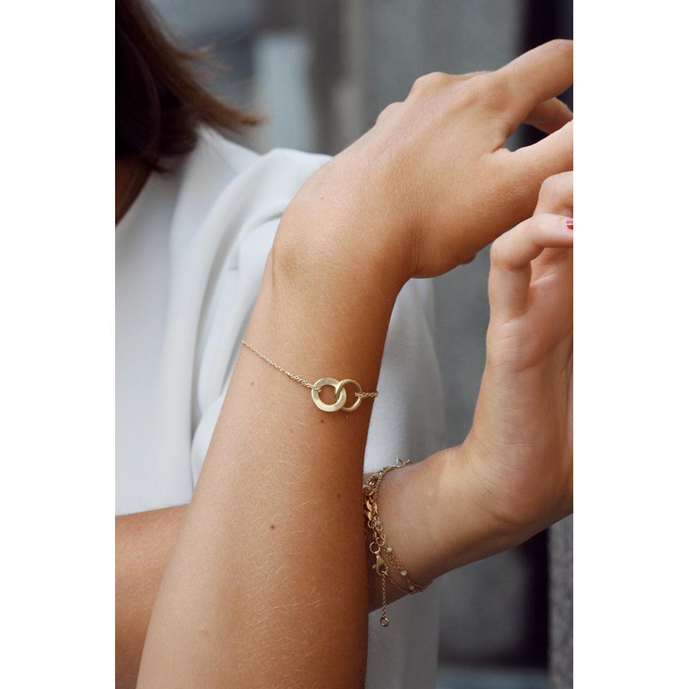Gold Bracelet With Thin Chain And Infinite Maschio Gioielli Milano 2