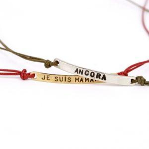 Bracciali unisex con piastra rettangolare curvata in argento o oro giallo, da personalizzare con la propria scritta _ maschio gioielli milano