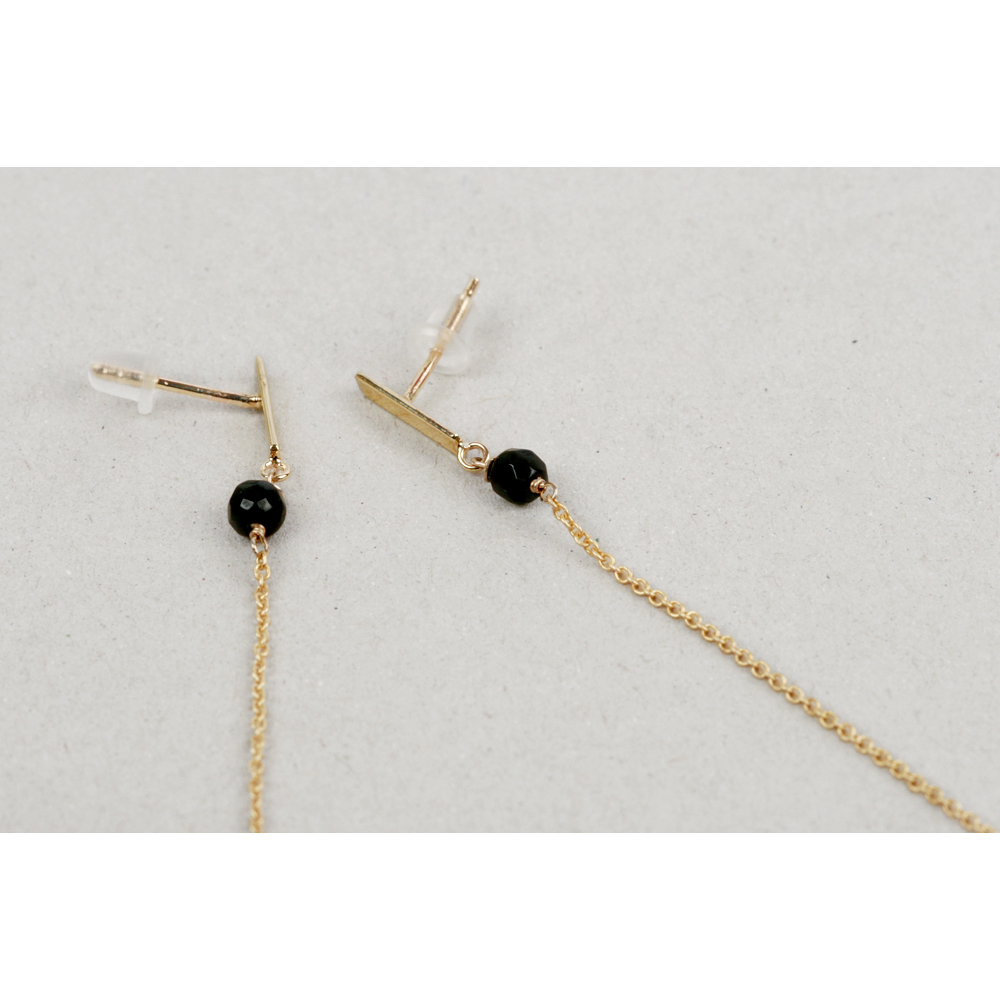 plated gold earrings claire stud simple ball s