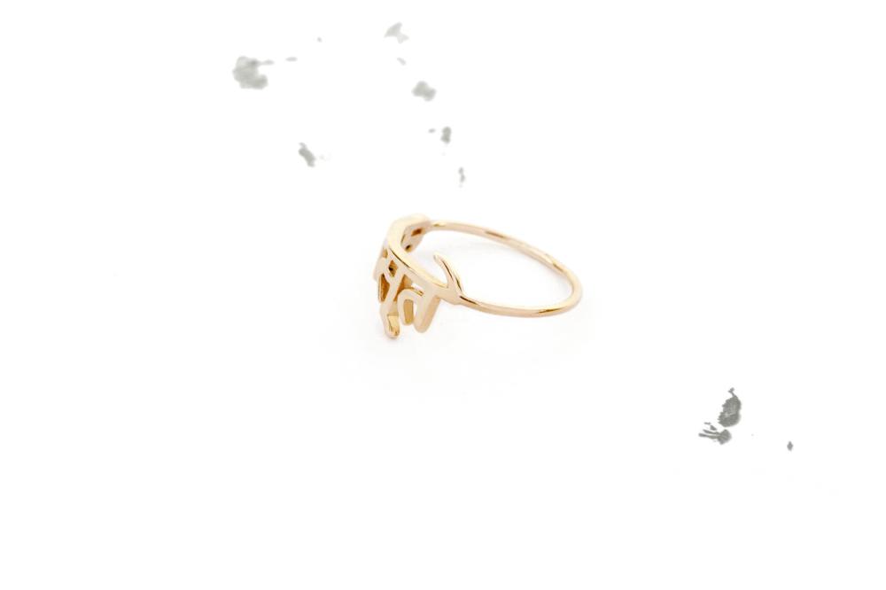 Namaste Sanskrit Ring