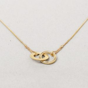 Yellow gold thin chain with asymmetric infinity _ maschio gioielli milano