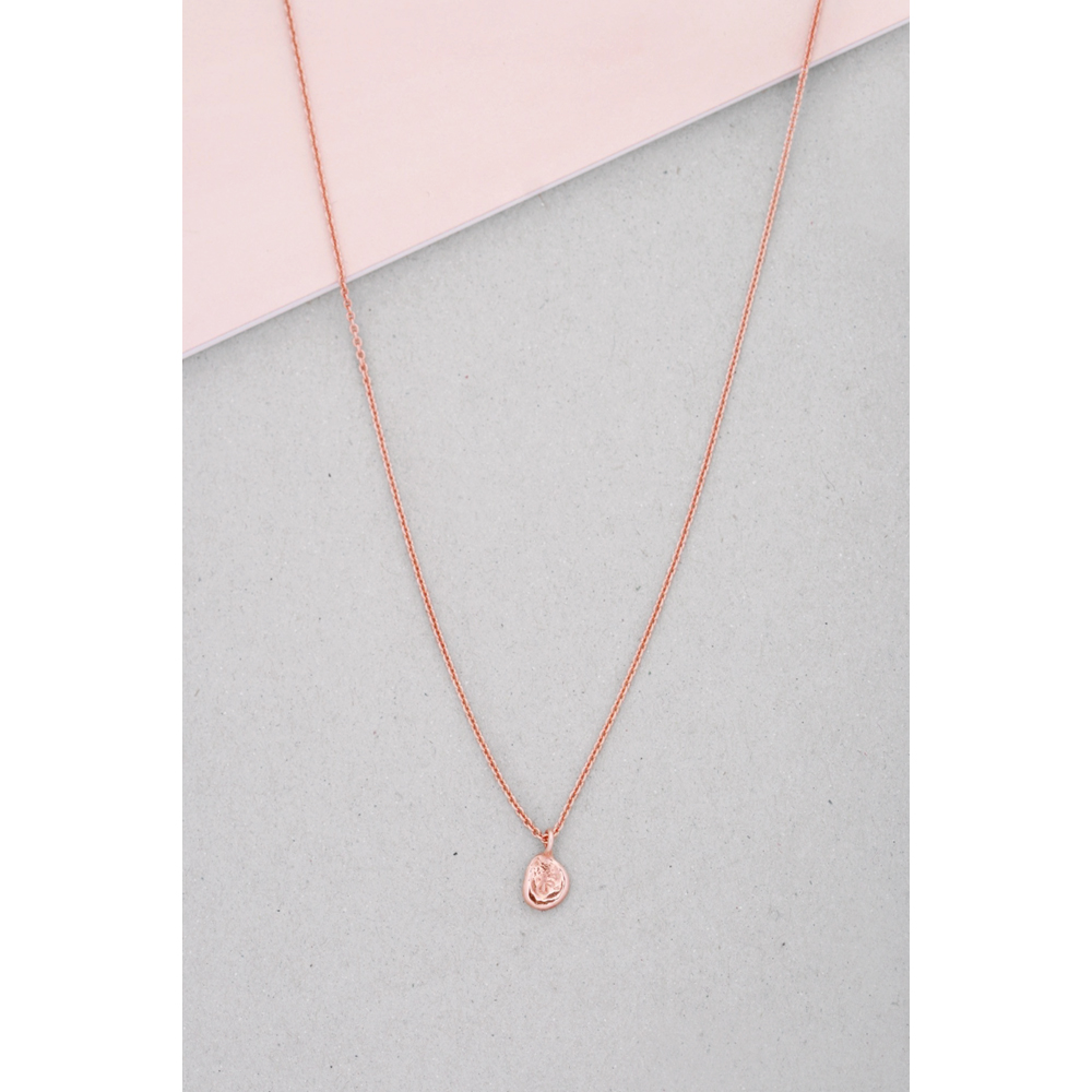 Pep necklace maschio gioielli milano shop online pink gold simple long thin chain necklace with sliding irregular roundish nugget no closure aloadofball Images