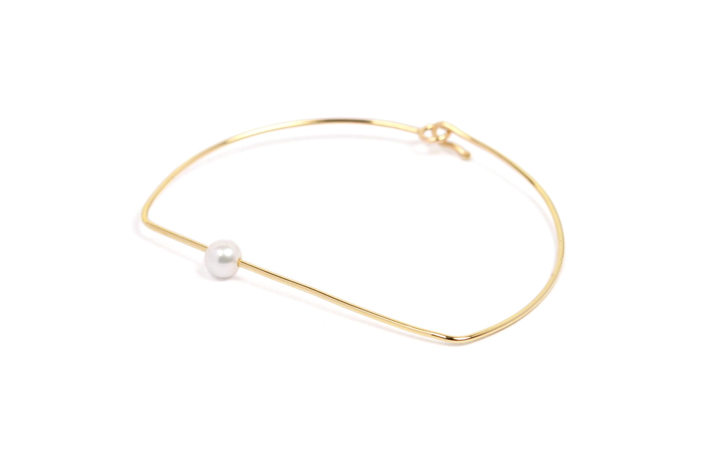 thin shop minimal online milano bracelet pearls stackable bracelets white stirrup maschio gioielli yellow passaggio for shaped with rings gold movable woman fashion semplice