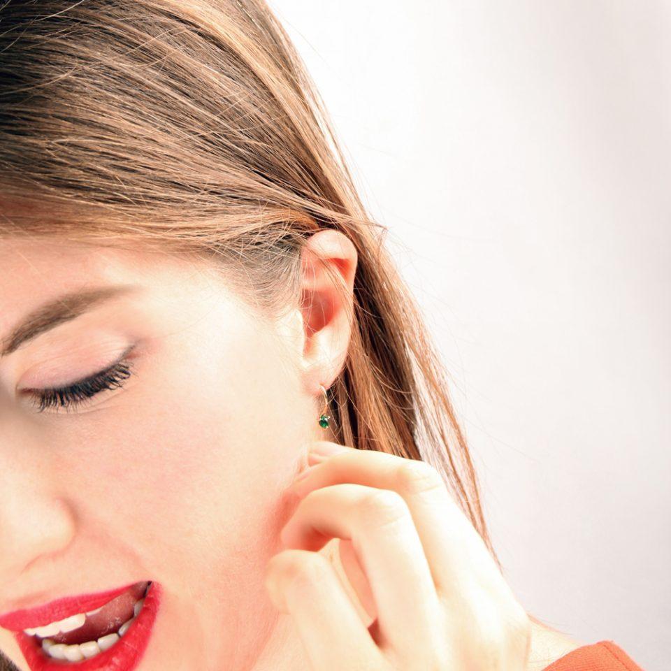 La belle Otero. Earrings