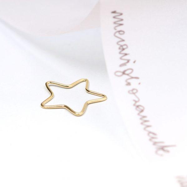 Thin gold wire star pendant _ maschio gioielli milano (1)