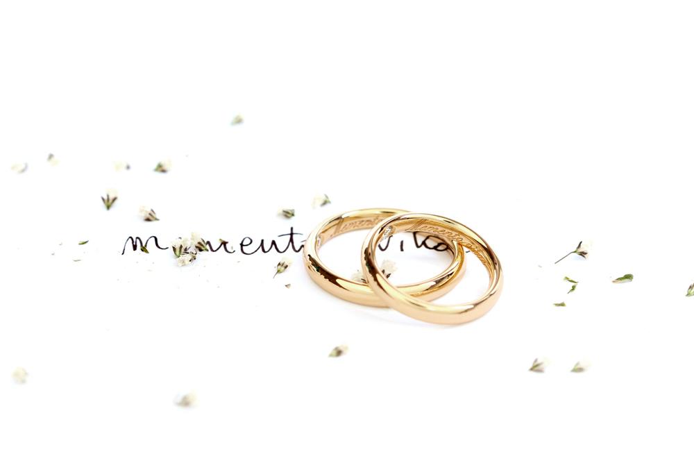 Memento Vitae. Wedding rings