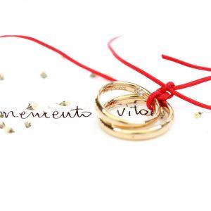 Coppia di fedi moderne uniche personalizzate in oro con diamante interno nascosto _ maschio gioielli milano