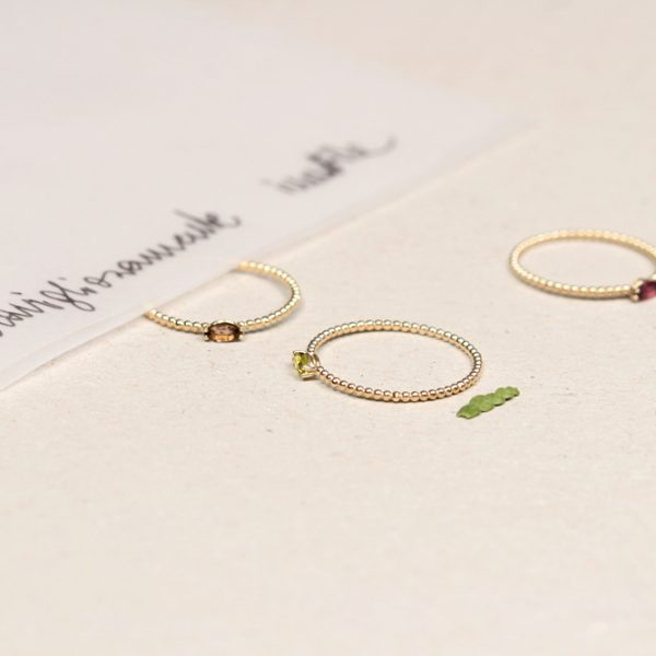 Thin tiny stacking minimalist gold rings with navette cut colored stones _ maschio gioielli milano (5)
