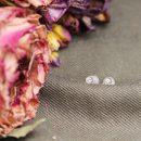 9k yellow gold little mini round stud earrings with white diamonds _ maschio gioielli milano (11)