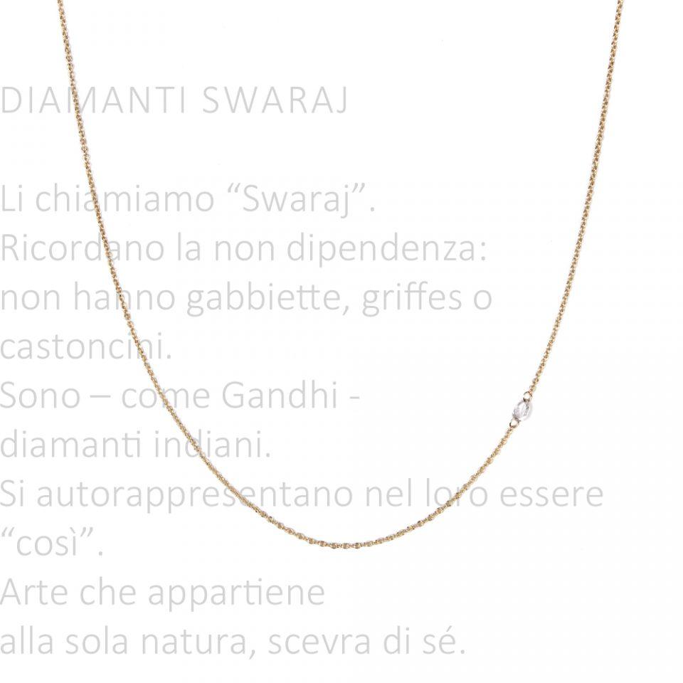Rossella in swaraj. Necklace
