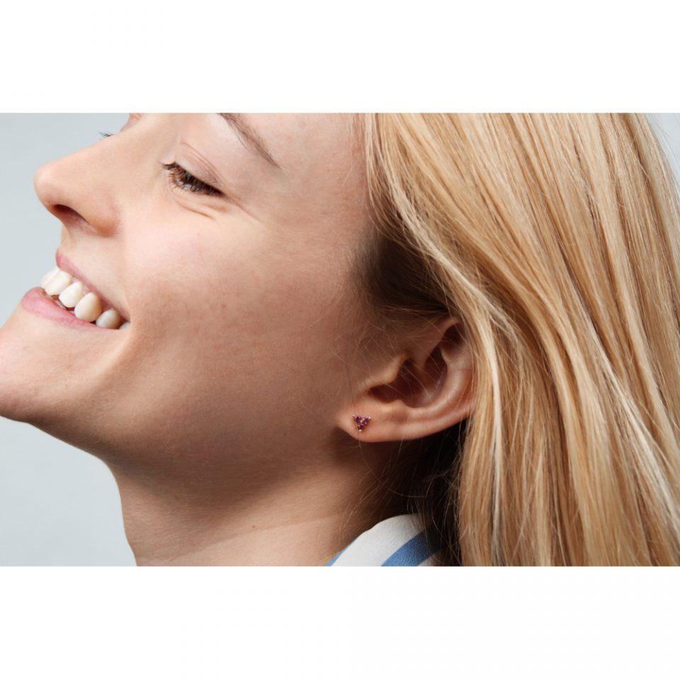 Tercet Rose. Single earring