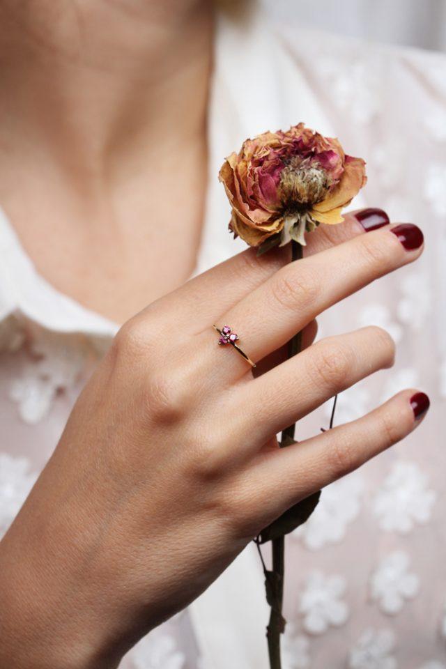 Tercet Rose. Ring