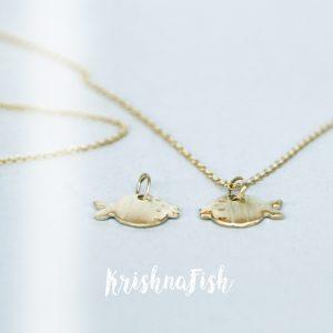 Yellow Gold Fish Pendant _ maschio gioielli milano